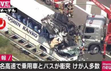 Tai nạn xe buýt kinh hoàng ở Nhật Bản