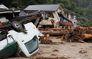 Mưa kỷ lục ở Nhật Bản gây thiệt hại nặng nề về người và của