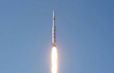 Triều Tiên tháng trước phóng 4 tên lửa, 3 rơi xuống biển Nhật Bản. Ảnh minh họa: KCNA
