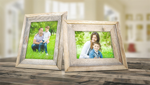 Picture Frames on Table by Bifurk | VideoHive