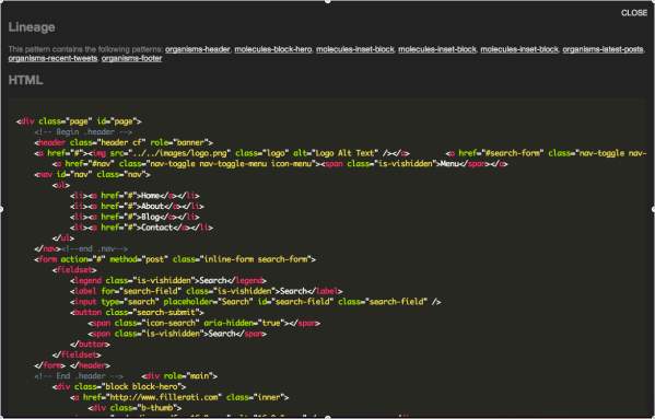 Viewing HTML code on a page view (demo). · Issue #44 ...