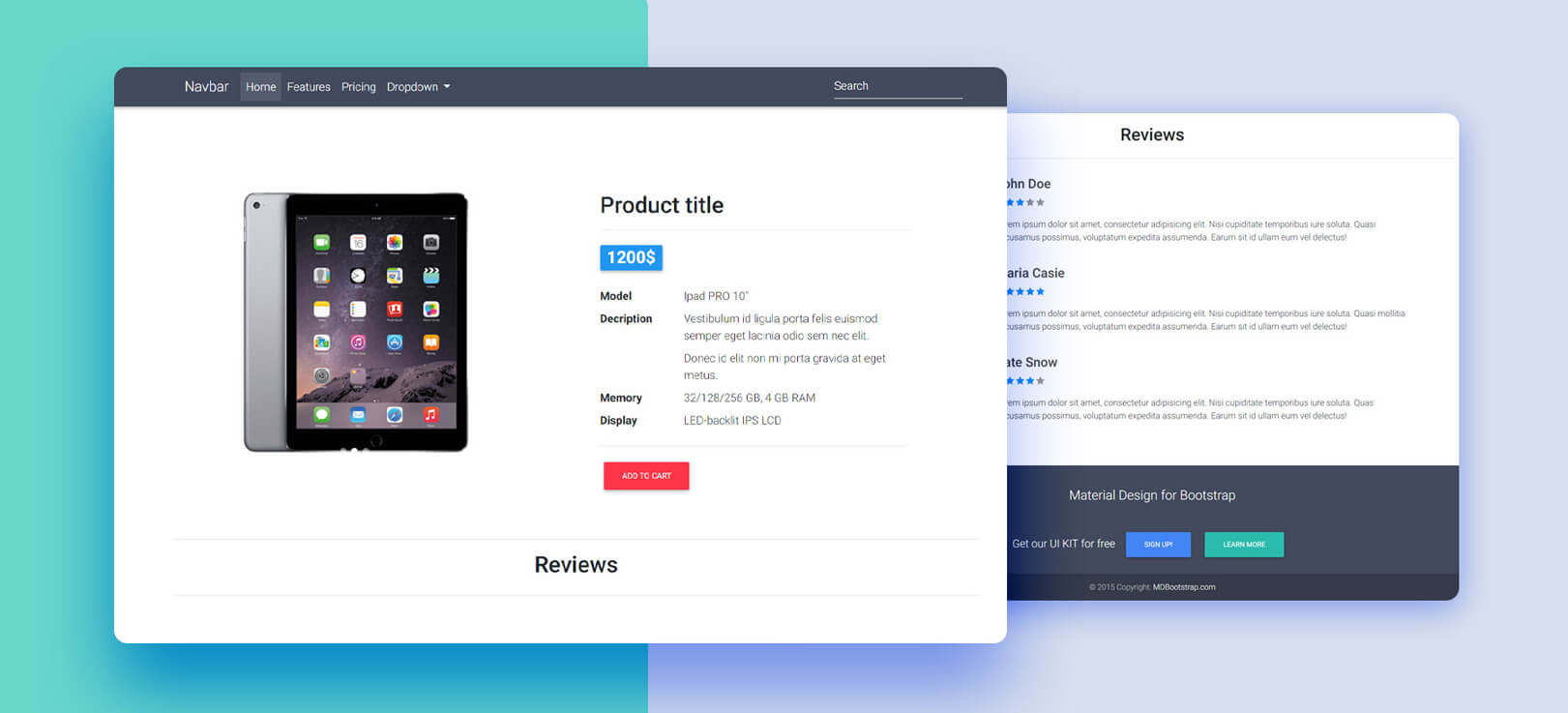 Gadgets ecommerce bootstrap template 19 a design that comes with a minimal, clean look and nordic as well as an. Github Mdbootstrap Ecommerce Template Bootstrap Ecommerce Template Bootstrap 4 Material Design Attention New Templates For The Latest Bootstrap 5 Are Now Also Available Access New Free Templates Via The Link Below