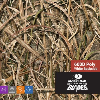 Mossy Oak Shadow Grass Blades - 600D Poly Fabric