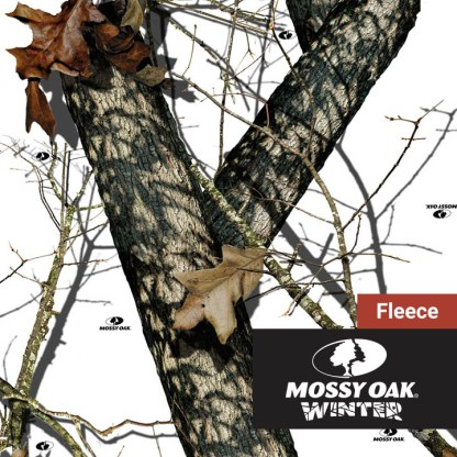 Mossy Oak Winter Camo Fleece