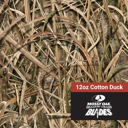 Mossy Oak Shadow Grass Blades - 12oz Cotton Duck Fabric