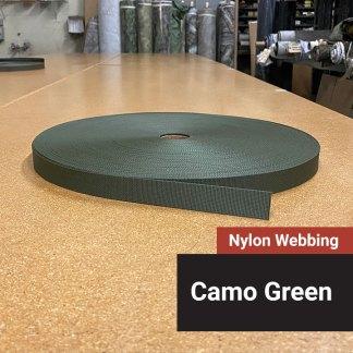 Nylon Webbing - Camo Green