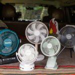 【激安品の実力は?!】車中泊で使いたい、5つの「ポータブル扇風機」を勝手にランキング