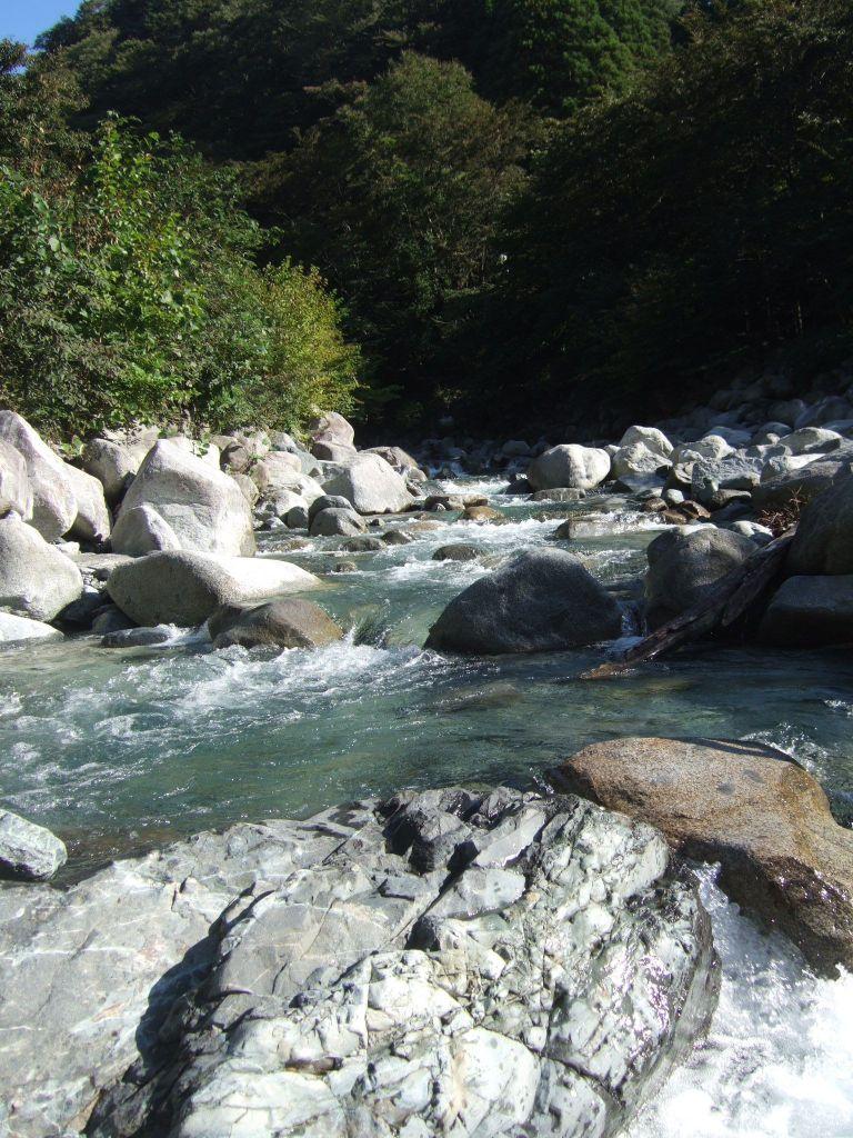 ウェルキャンプ近くの川