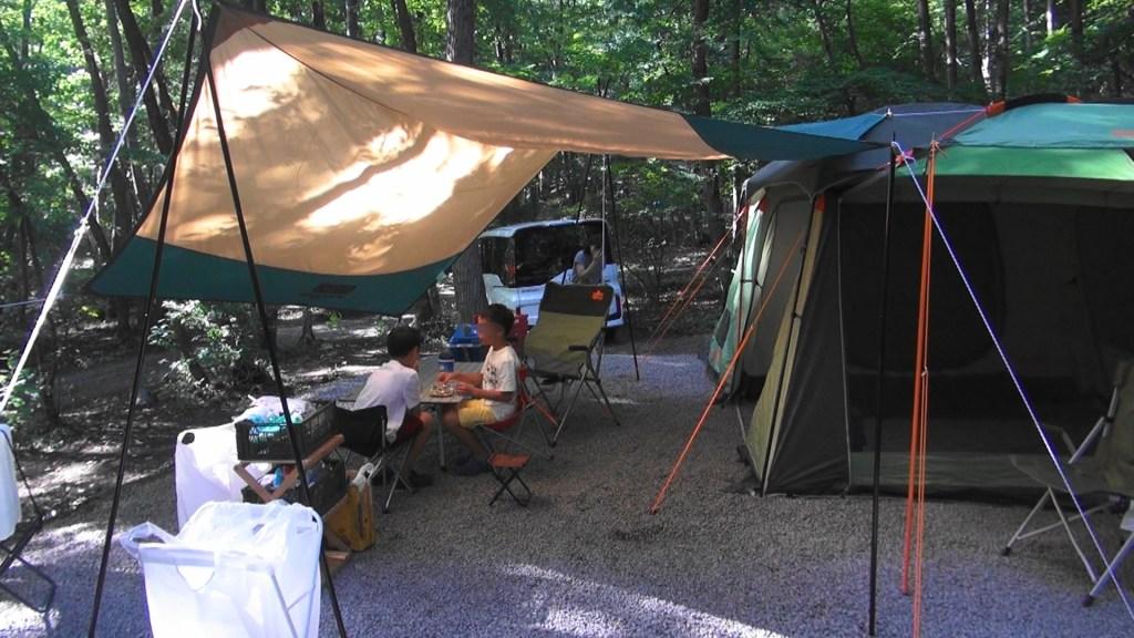 タープとテント