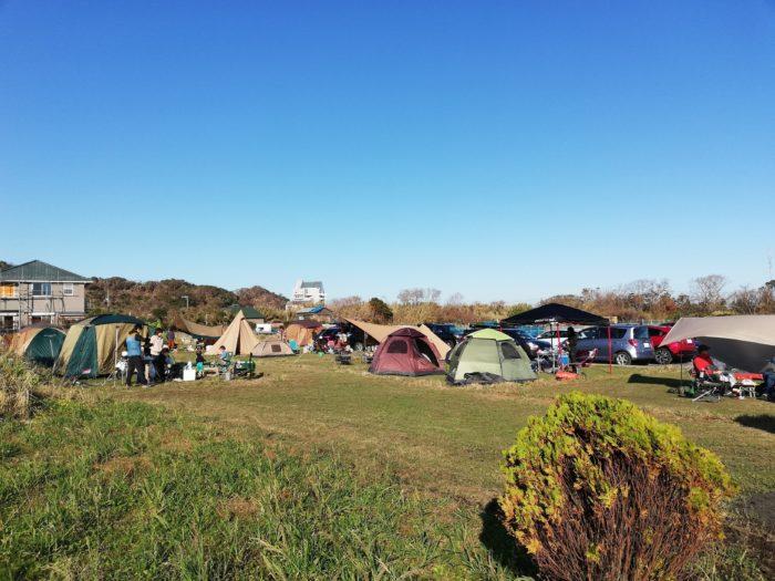 館山サザンビレッジ キャンプサイト風景