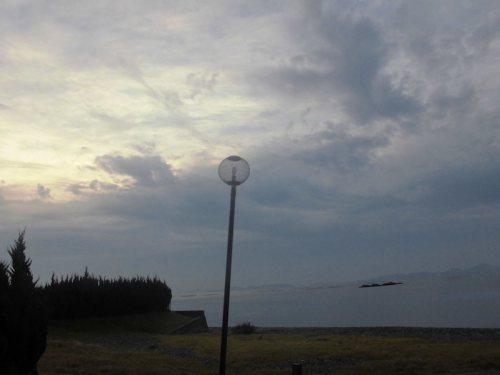 丸山県民サンビーチの街灯