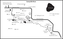 Map of Camp Elk River's Facilities