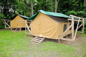Platform Tents at Camp Lakamaga