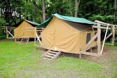 Platform Tents at Camp Lakamaga