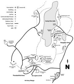 Map of Northwoods Facilities
