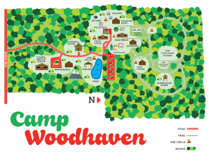 Map of Camp Woodhaven