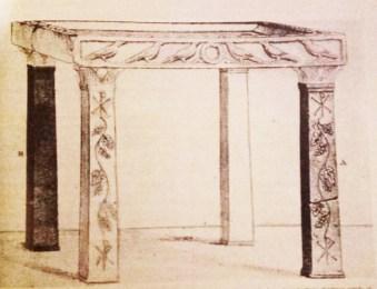 Ricostruzione dell'Altare della Basilica di S. Alexandro martire vescovo di Baccano del IV secolo d.C..