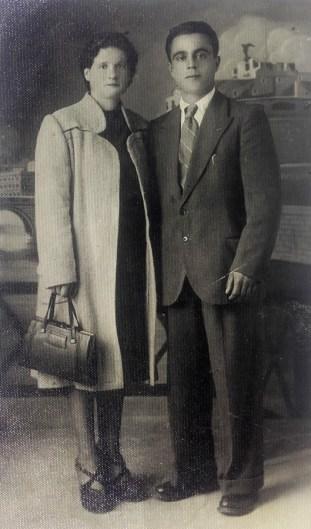 Pietro Gregori con sua moglie Primavera Baldassarini
