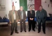 La Sezione dei Combattenti di Campagnano di Roma. Da sx si riconoscono: Ruffino Seri, Dino Comandini, Biagio Rossi e Marsilio Gregori