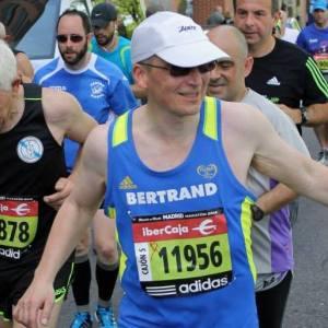 Dean Bertrand Olivier running a marathon.