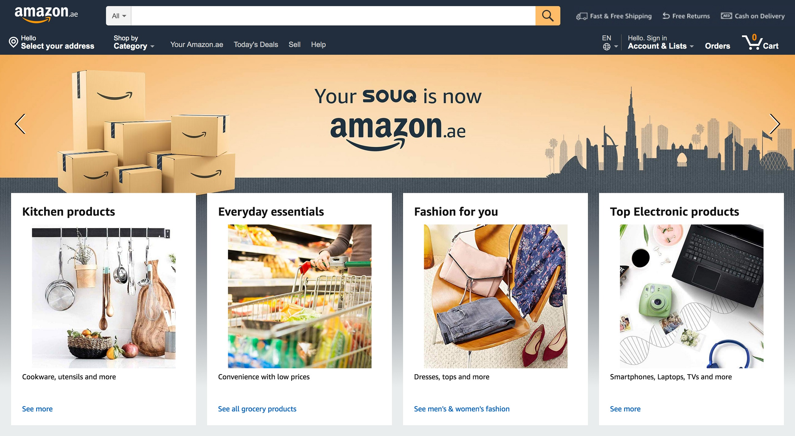 Goodbye Souq.com, hello Amazon.ae