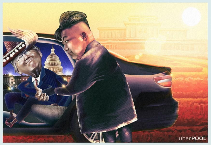 UberPOOL | Donald Trump | Kim Jong Un, Creative Print Ads