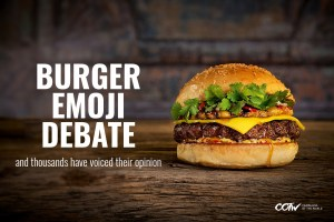 burger emoji fight