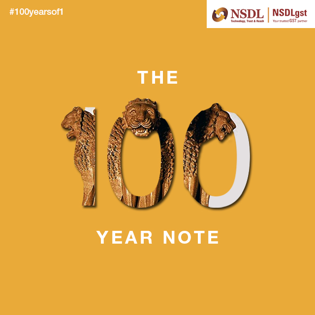 NSDL celebrate 100 Years of 1 Rupee currency