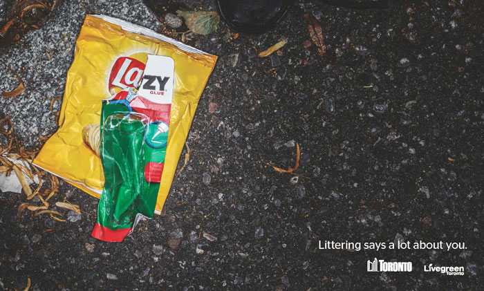 Anti-Littering Ads - Live Green Toronto