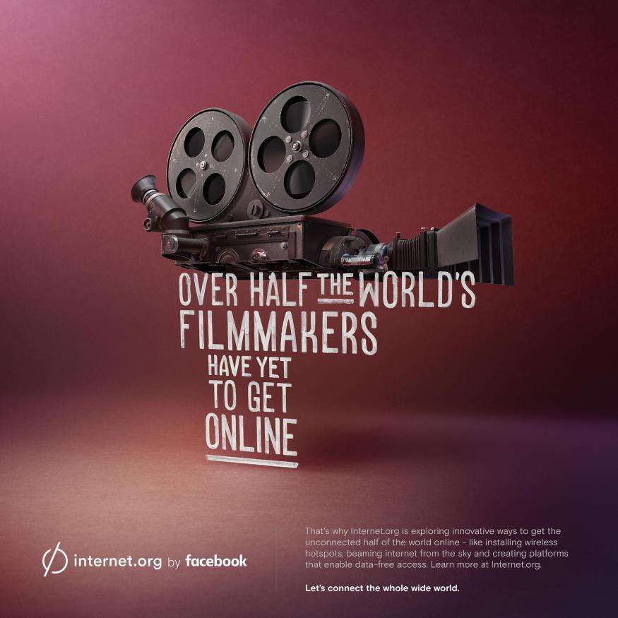 Facebook internet.org | Over half the world's filmmakers have yet to get online.