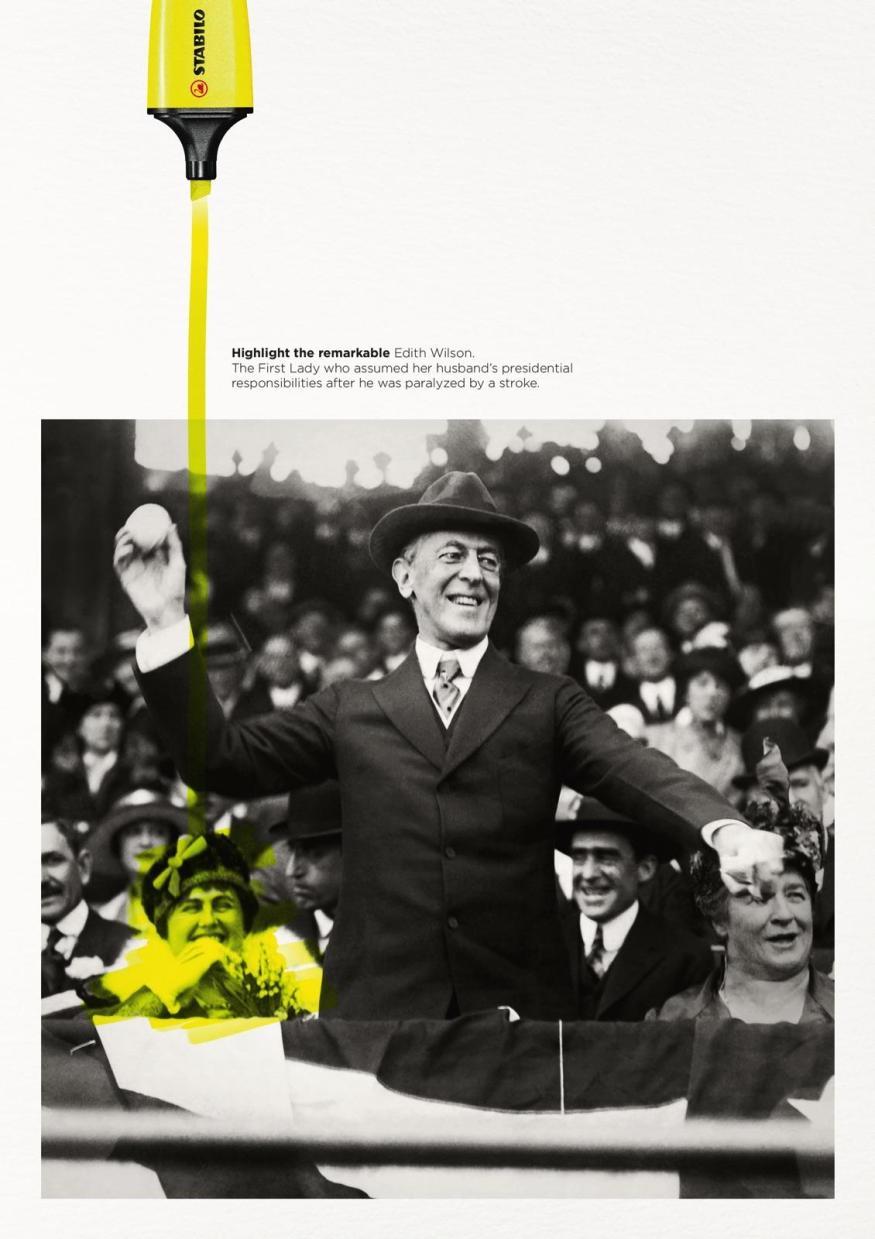 Edith Wilson | Stabilo Boss Highlight the Remarkable - Print Advertising