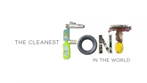 The Cleanest Font in the World - World Cleanup Day by Ecologists Without Borders