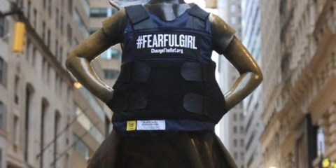Fearless Girl transform into a Fearful Girl | #FearfulGirl