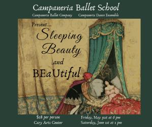 Sleeping Beauty by Campaneria Ballet, Spring Recital @ Cary Arts Center | Cary | North Carolina | United States