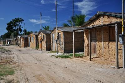 Casas construídas por indígenas em área retomada, 2012, por Daniela Alarcon.