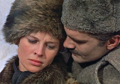 Omar Sharrif and Julie Christie in Doctor Zhivago