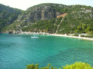 One of the beaches on Skopelos