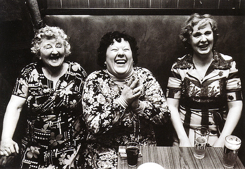LAUGHING OLD WOMEN