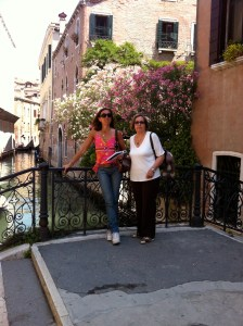 My mom and I in Venice