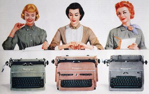 Incredible but true: we did start when the typewriter was still in use