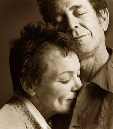 Lou with his beloved wife, the wonderful Laurie Anderson