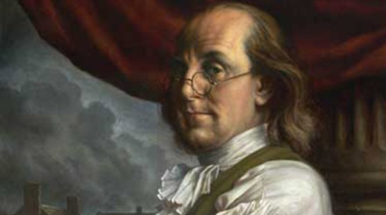 "Benjamin Franklin believed ""air baths"" were conducive to healthy living"