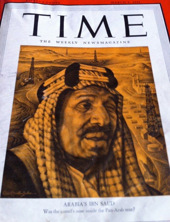The original copy of Time magazine - they had drawings on the cover, not photos