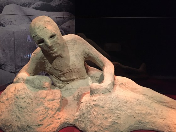Living on, as a cast of a former body in Pompeii