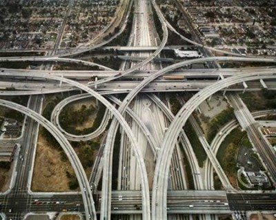 One of L.A.' scarier freeway interchanges
