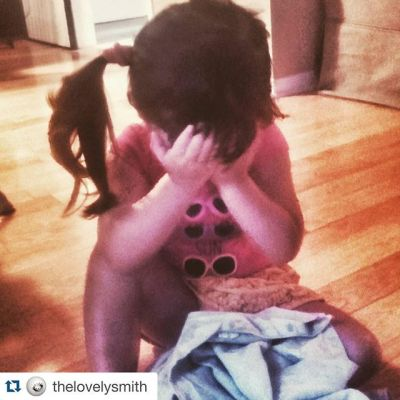 Crying because I bought her a new top to wear today. So I'm an #assholeparent Via @thelovelysmith