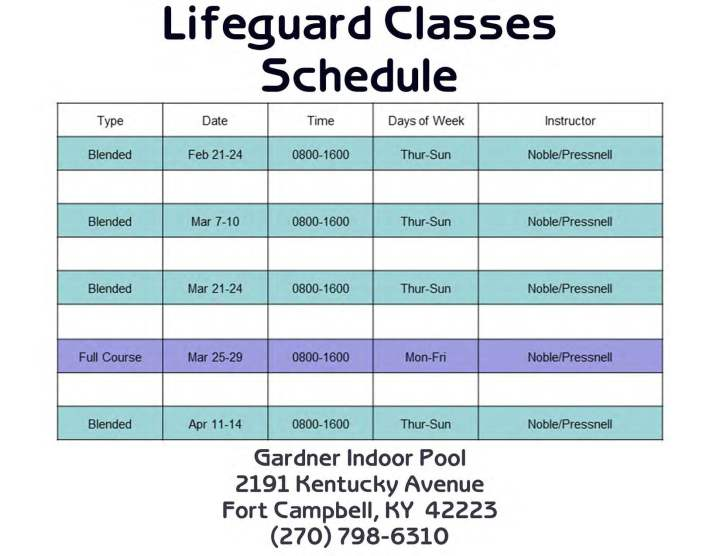 fort campbell mwr aquatics indoor and outdoor pools