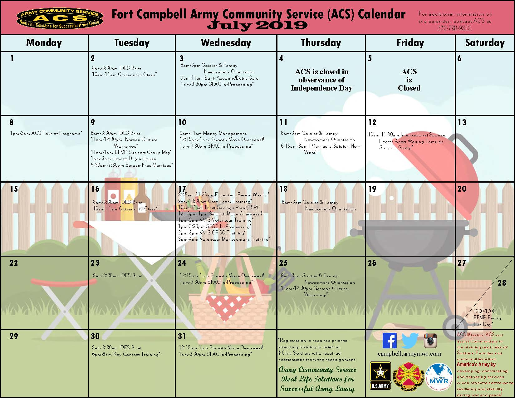 Fort Campbell Mwr Army Community Service