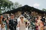 Florida Church wedding with Confetti