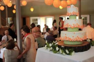 Michigan Vineyard Wedding Cake